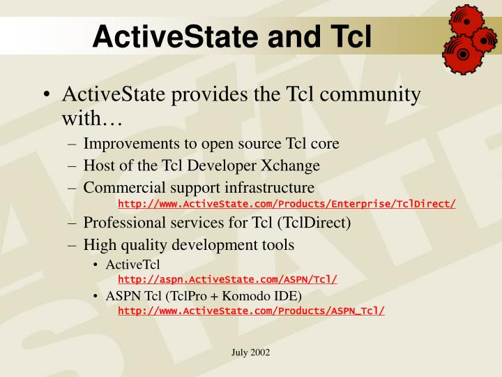 ActiveState and Tcl