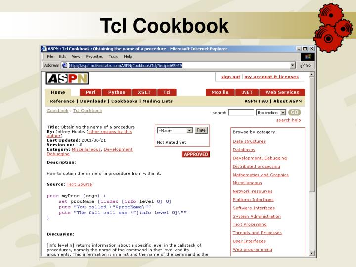 Tcl Cookbook