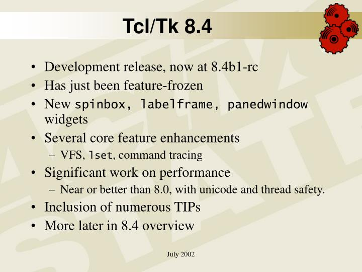 Tcl/Tk 8.4