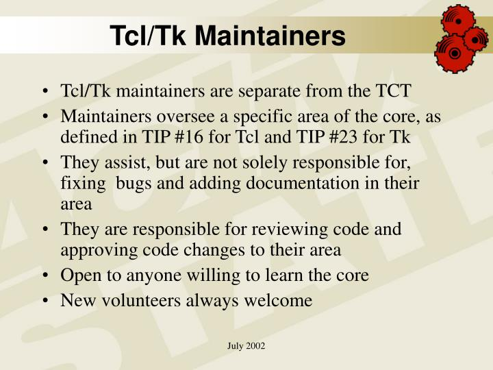 Tcl/Tk Maintainers