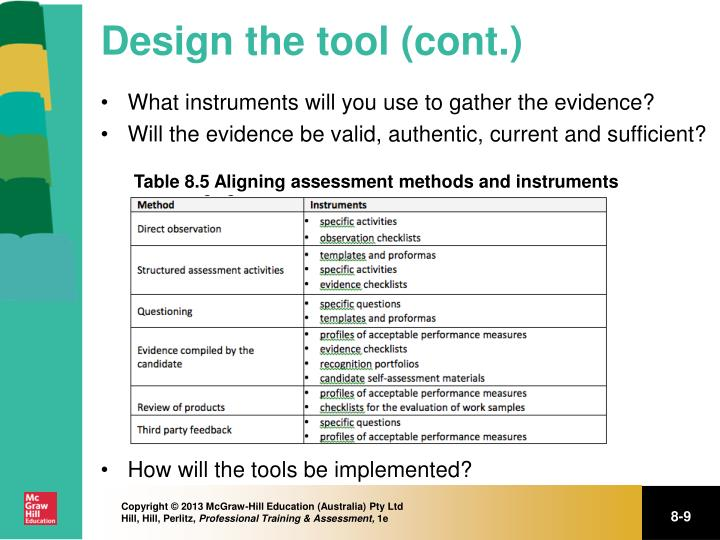 Design the tool (cont.)