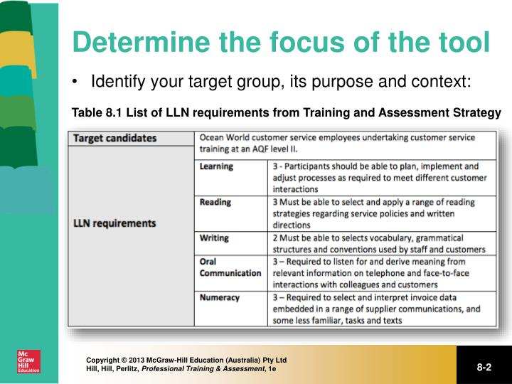 Determine the focus of the tool