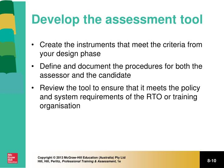 Develop the assessment tool