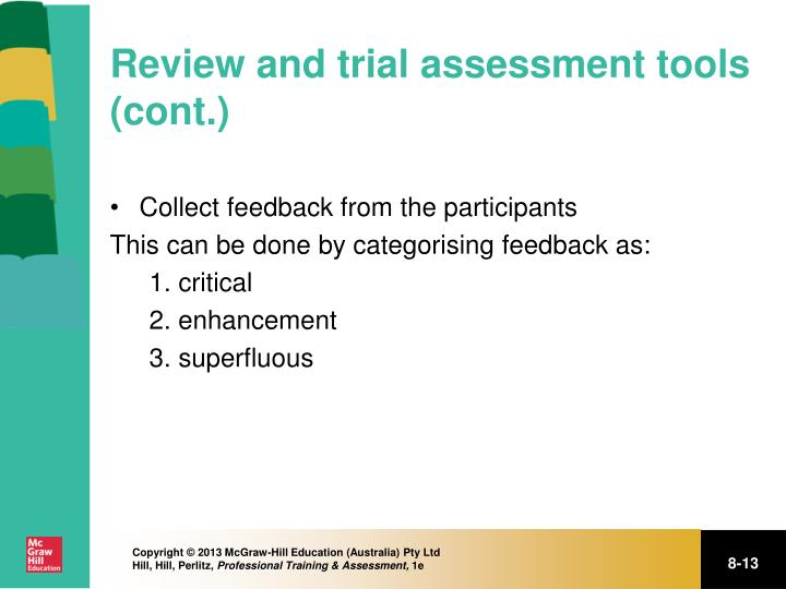 Review and trial assessment tools (cont.)