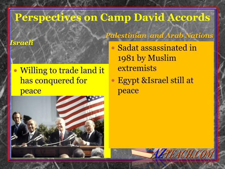Perspectives on Camp David Accords
