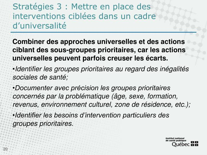 Stratégies3: