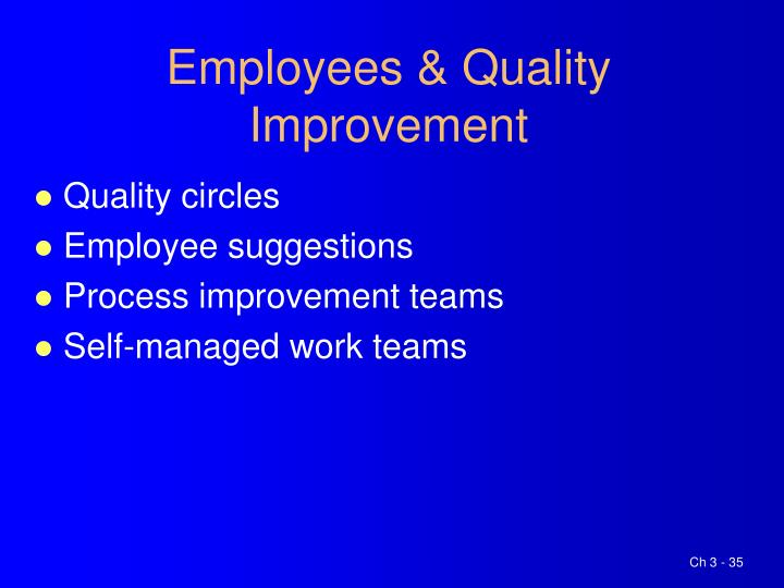 Employees & Quality Improvement