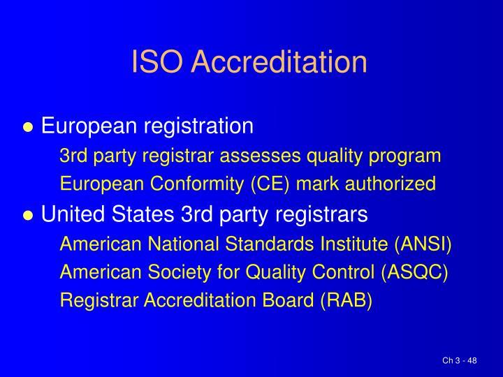 ISO Accreditation