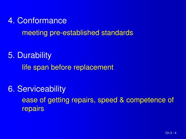 4. Conformance