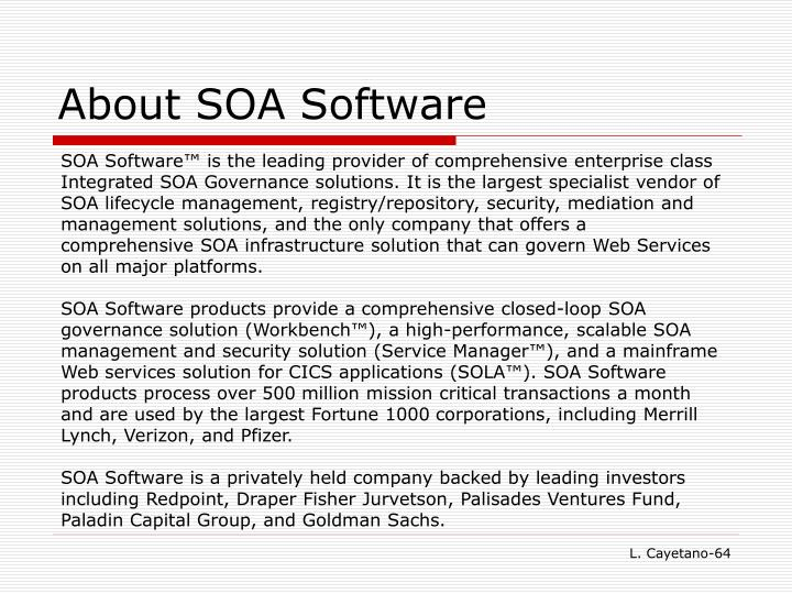 About SOA Software