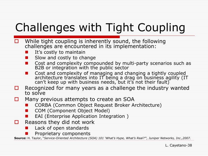 Challenges with Tight Coupling