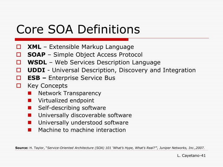 Core SOA Definitions