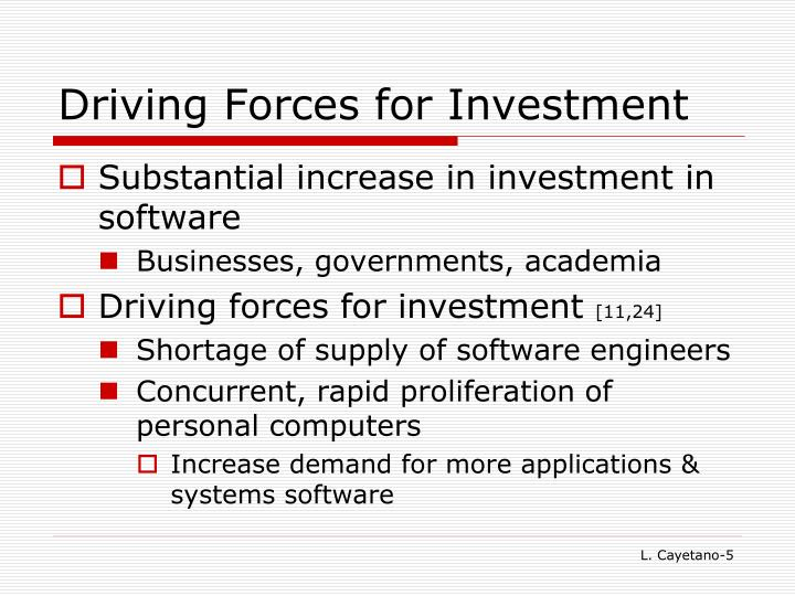 Driving Forces for Investment