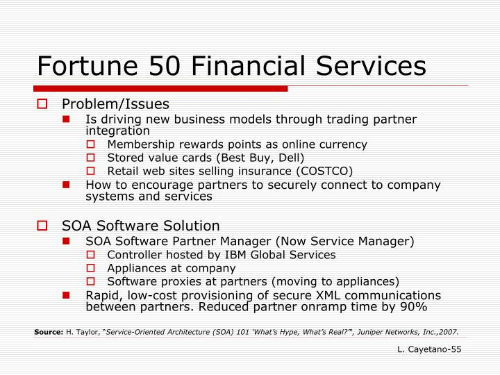 Fortune 50 Financial Services