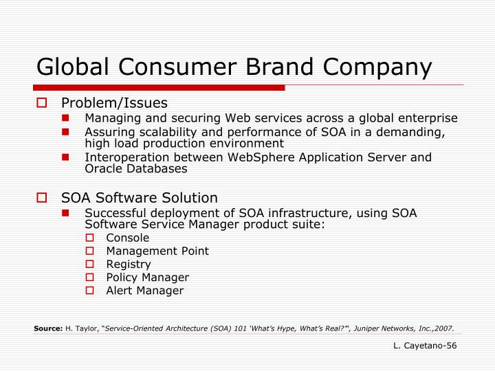 Global Consumer Brand Company