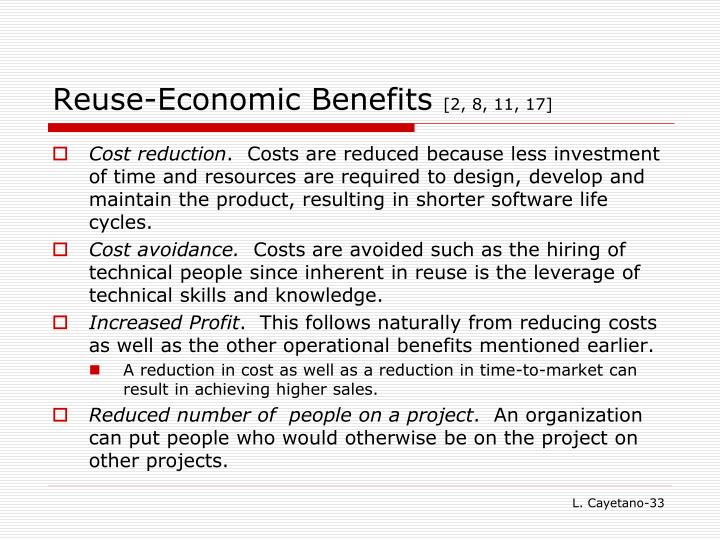 Reuse-Economic Benefits