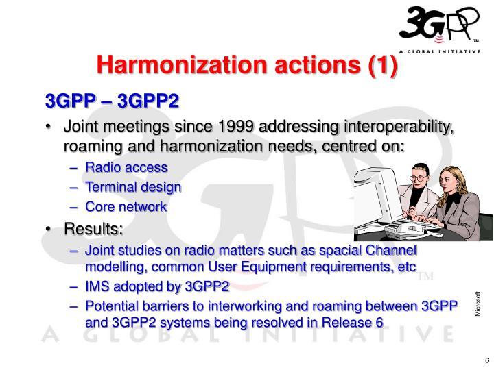 Harmonization actions (1)