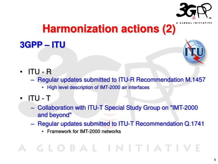 Harmonization actions (2)
