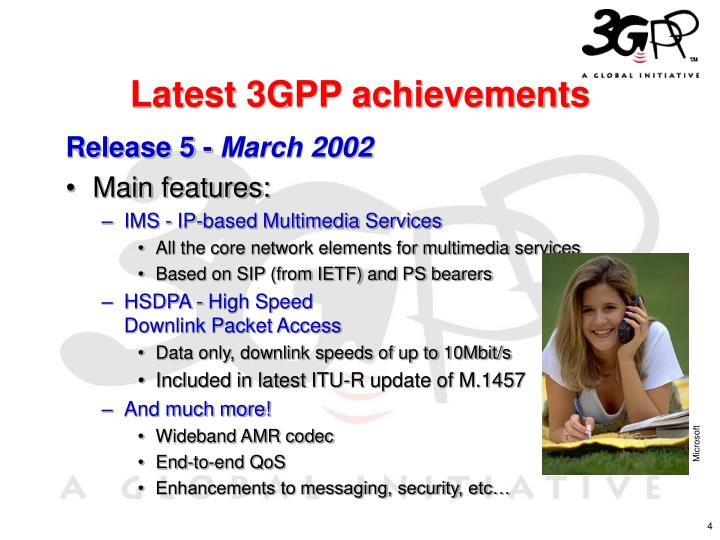 Latest 3GPP achievements