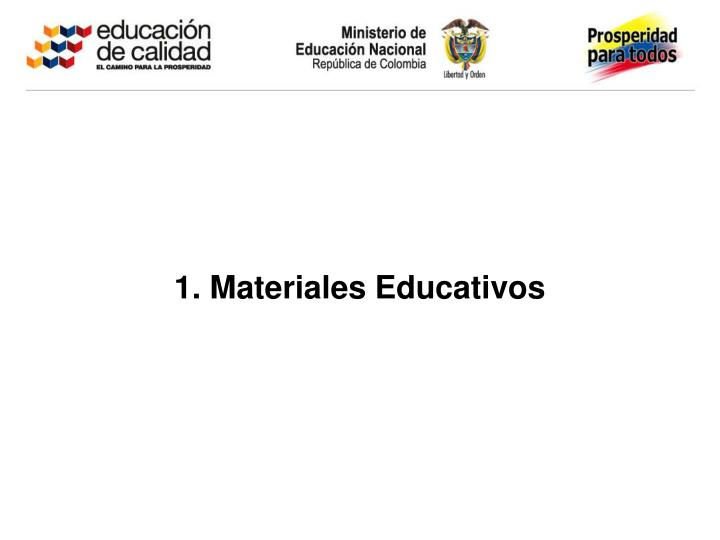 1. Materiales Educativos