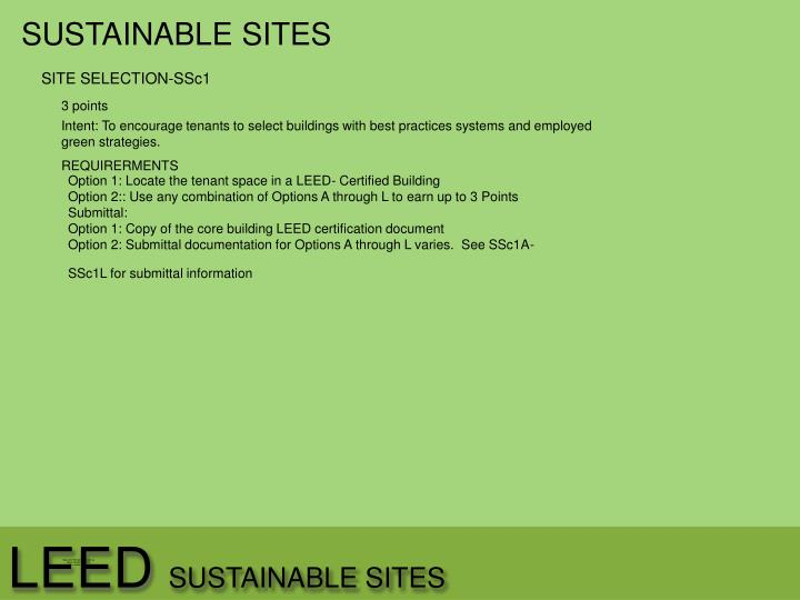 Leed sustainable sites