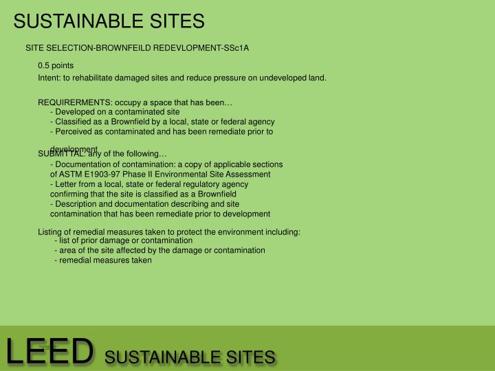 Leed sustainable sites1