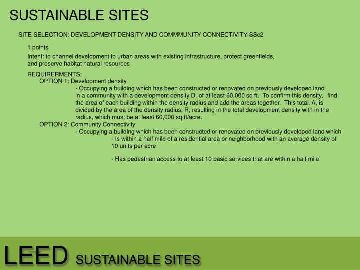SUSTAINABLE SITES