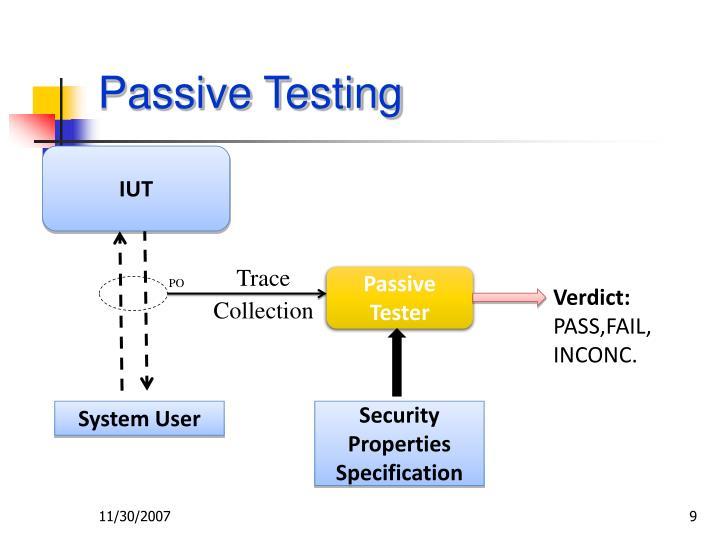 Passive Testing