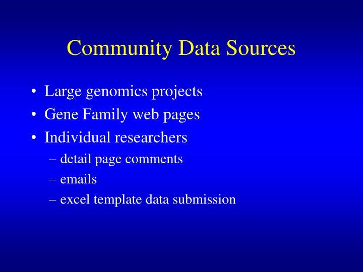 Community Data Sources