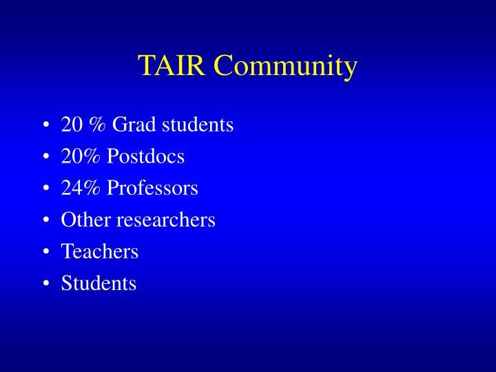 TAIR Community