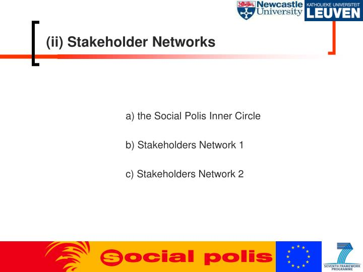 (ii) Stakeholder Networks