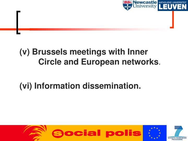 (v) Brussels meetings with Inner     Circle and European networks