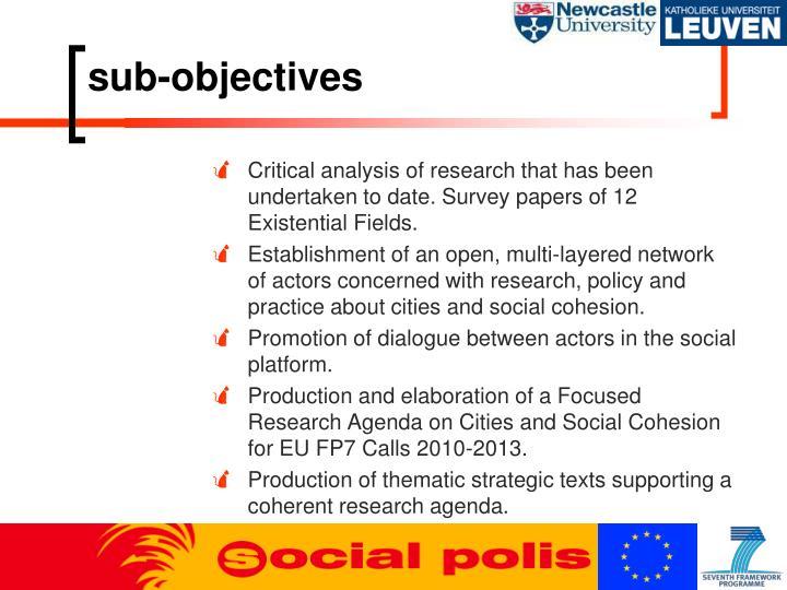 sub-objectives