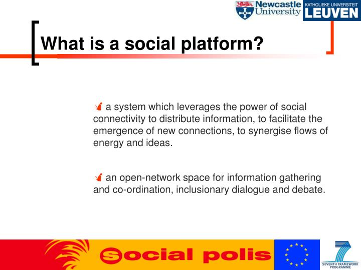 What is a social platform?
