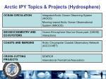 arctic ipy topics projects hydrosphere