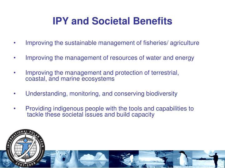 IPY and Societal Benefits