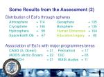 some results from the assessment 2