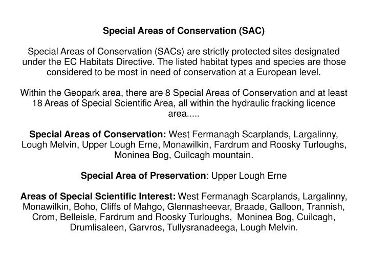 Special Areas of Conservation (SAC)