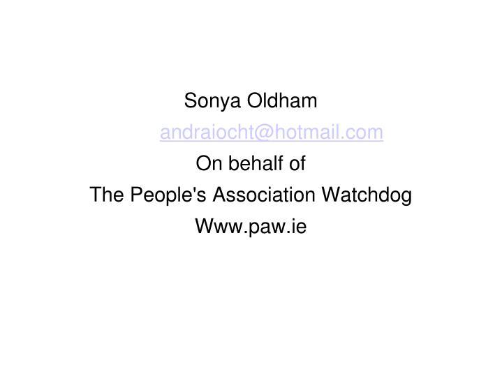 Sonya Oldham