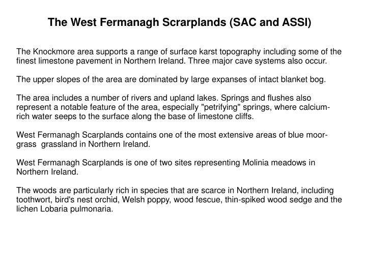 The West Fermanagh Scrarplands (SAC and ASSI)