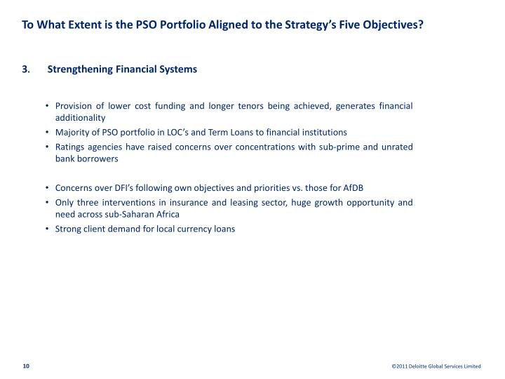 To What Extent is the PSO Portfolio Aligned to the Strategy's Five Objectives?