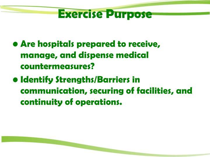 Exercise Purpose