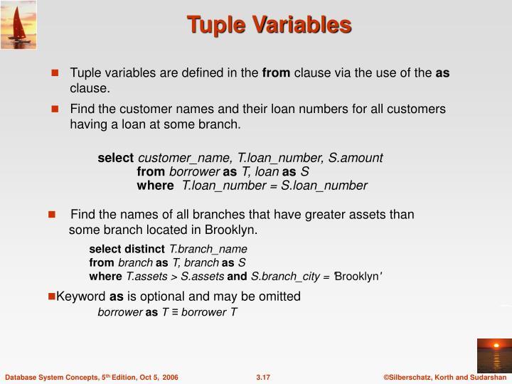 Tuple Variables