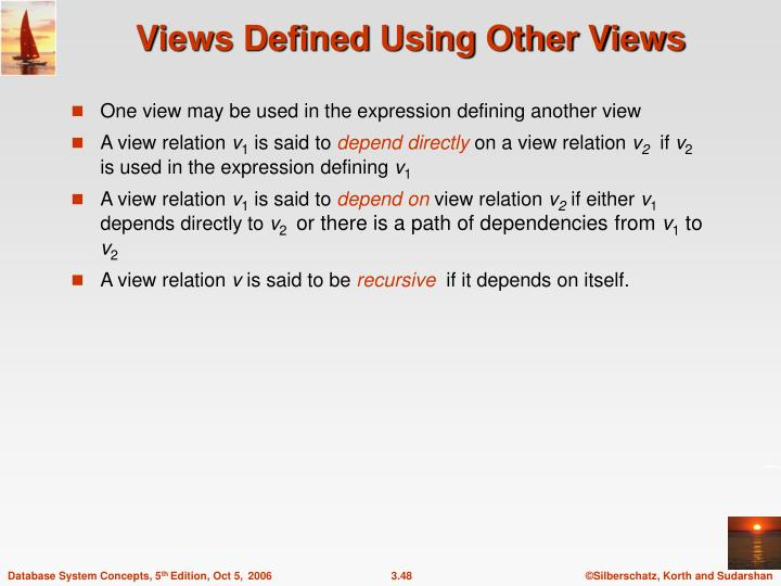 Views Defined Using Other Views