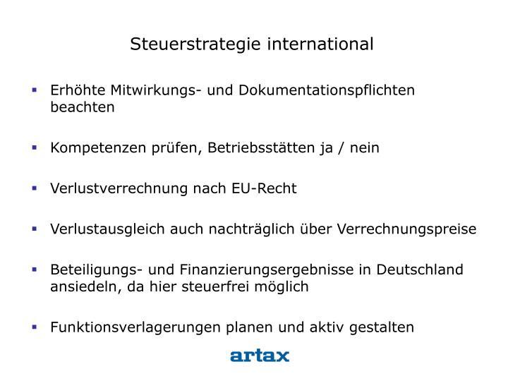 Steuerstrategie international