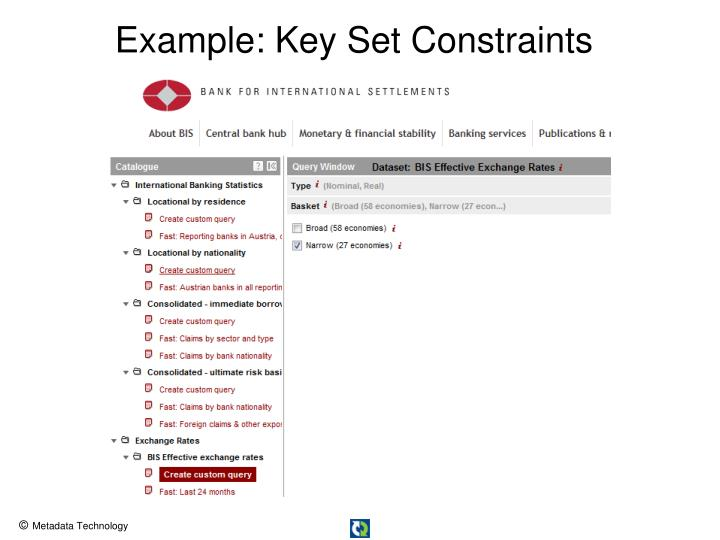 Example: Key Set Constraints