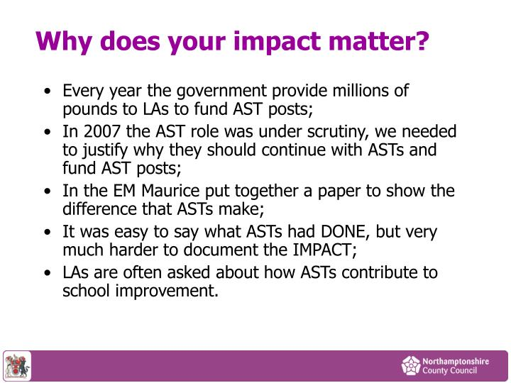 Why does your impact matter?