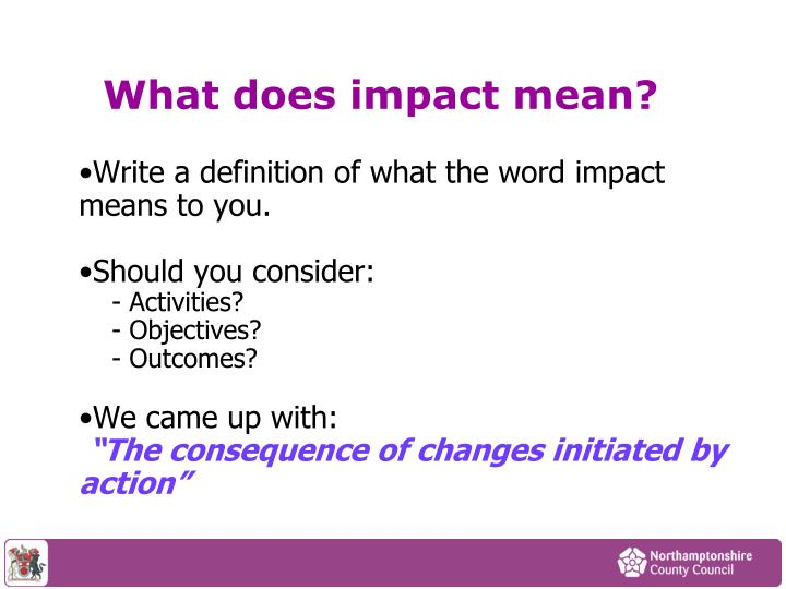 What does impact mean?