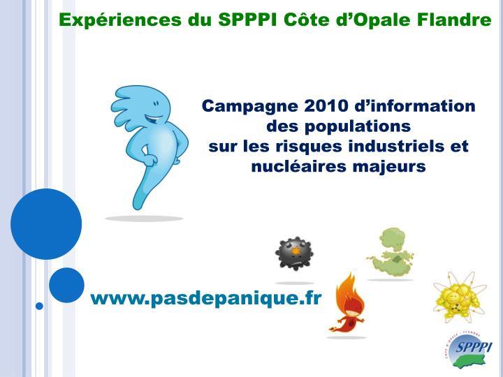 Expériences du SPPPI Côte d'Opale Flandre
