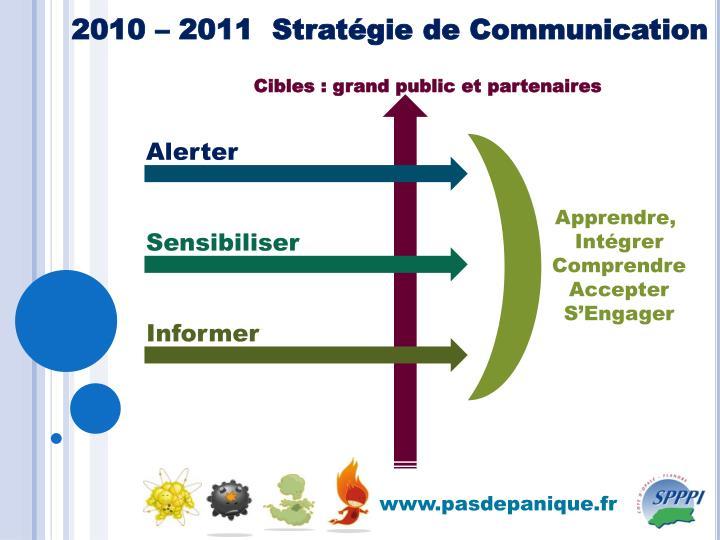 2010 – 2011  Stratégie de Communication